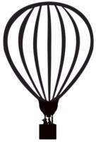 Hot air balloon 170mm tall (large)